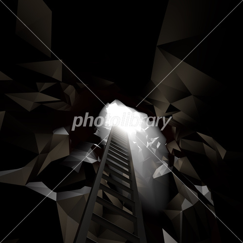 洞窟とはしご イラスト素材 3692570 フォトライブラリー Photolibrary