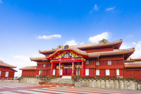 Tadashi of Okinawa Shuri Castle stock photo