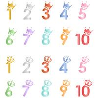 Number crown set [3701364] Set