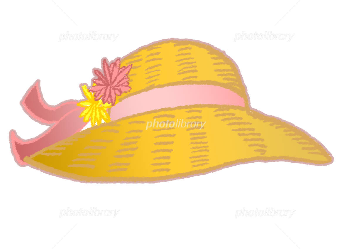 女の子の麦わら帽子 花 イラスト イラスト素材 3810519 フォト