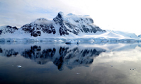 A quiet sea of \Antarctica Paradise Bay Stock photo [3810142] Antarctic