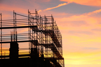 Sunset and construction site Stock photo [3915478] Construction