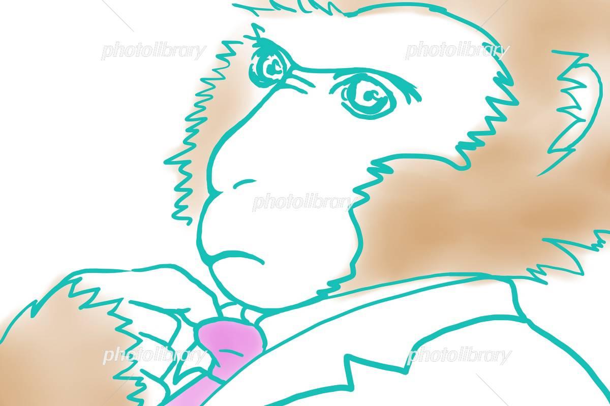 ネクタイを緩める猿 イラスト素材 4092695 フォトライブラリー
