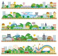 Town (seaside airfield Shinkansen Japan amusement park) [4091557] Townscape