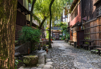 Alley of Gifu Prefecture Gujo Hachiman Yanaka water Stock photo [4157038] Gujo