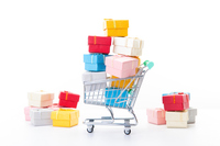 Cart gift box has entered Stock photo [4157785] cart