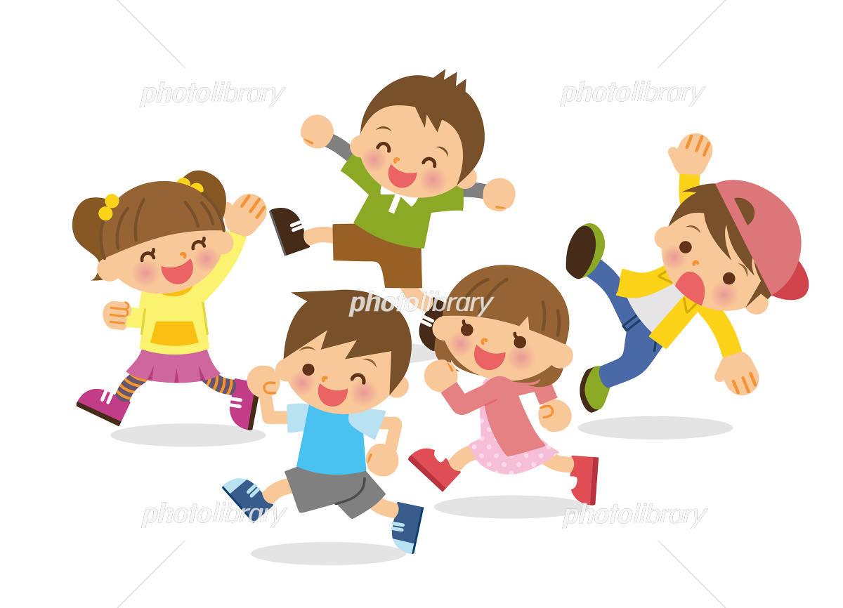 children running イラスト素材