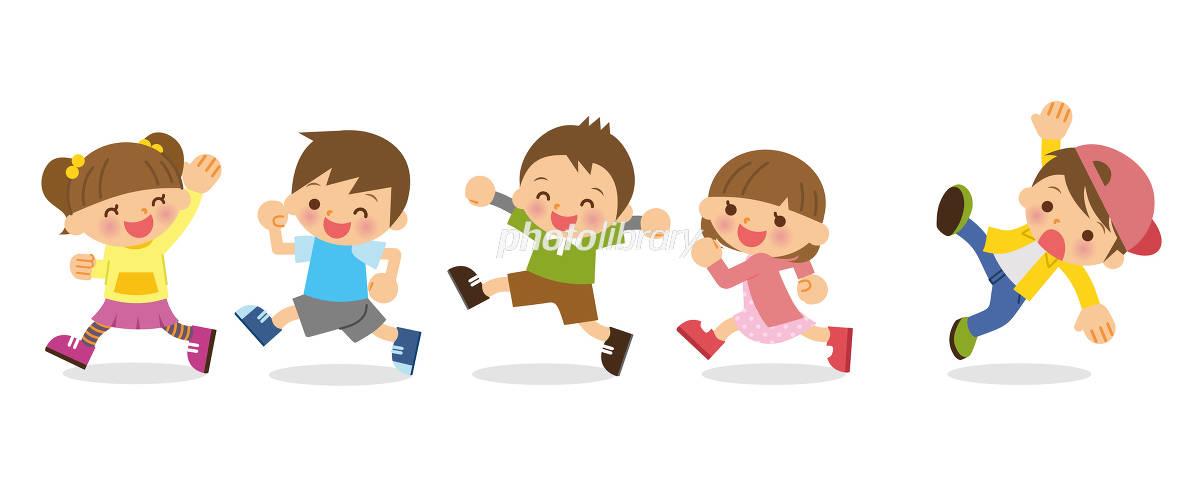 走る 子供 イラスト素材 フォトライブラリー Photolibrary