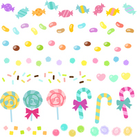 Candy, candy of line material set [4210792] candy