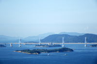 Seto Ohashi Bridge that Okayama Prefecture prince saw from Takeshi Stock photo [4211279] Okayama