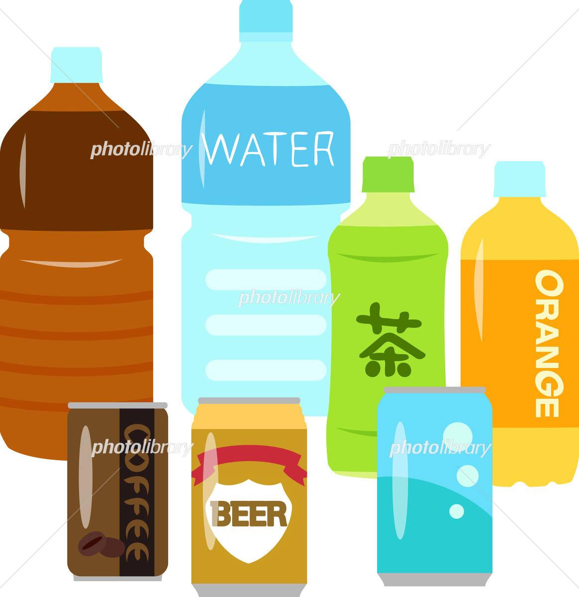 ペットボトルや缶入りの飲み物 イラスト素材 4310690 フォトライブ