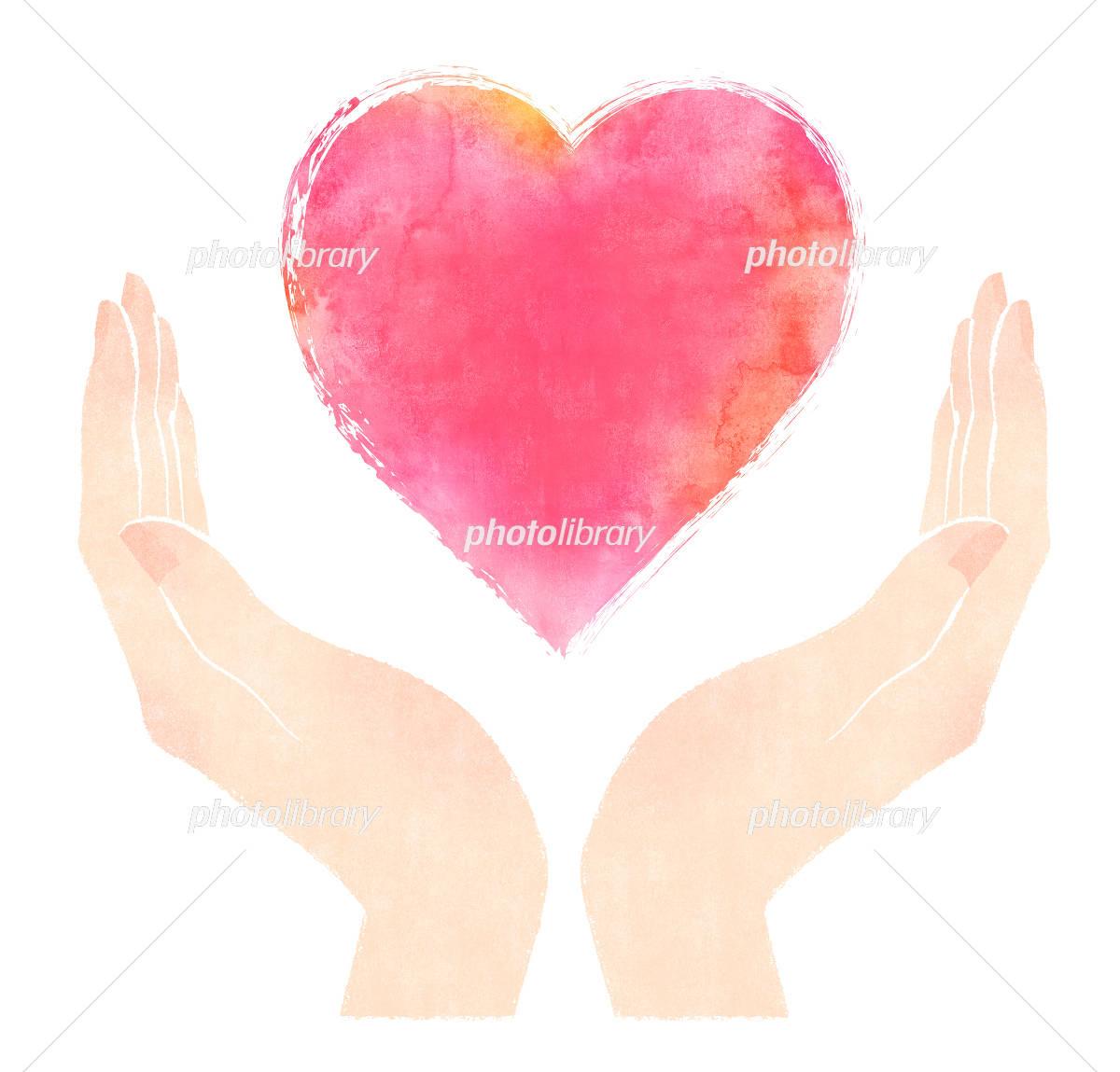 Heart palm 4 イラスト素材