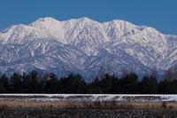 Winter sunny Tateyama mountain range Stock photo [4310244] Toyama