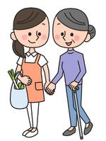 Senior shopping help [4317524] Senior