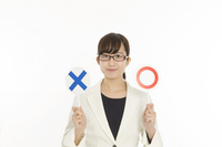 ○ × female question before image to issue both Stock photo [4317651] ○