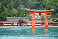 Itsukushima Shrine front Stock photo [4317829] Hiroshima