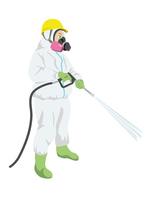 Men to the decontamination work [4320056] Decontamination