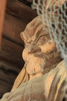 Shikoku hallowed ground 51 No. Fudasho Ishite-ji wooden Deva King statue Stock photo [4326165] Ishite-ji