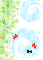 Summer greeting goldfish [4395240] Summer