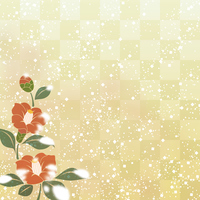 Background pattern of camellia and cobbled [4401439] camellia