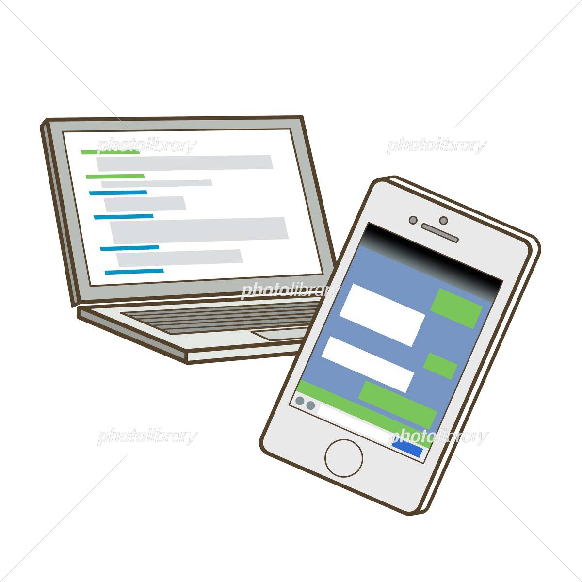 パソコン スマートフォン イラスト素材 4475370 フォトライブ