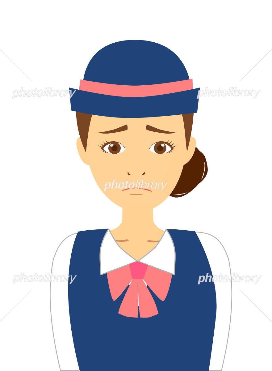 ツアーガイド 悲しい表情 イラスト素材 4481331 フォトライブ