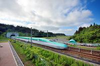 Hokkaido Shinkansen which runs the fresh green of the Seikan Tunnel Stock photo [4474282] Seikan