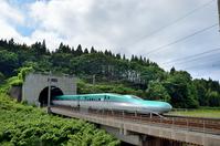 Hokkaido Shinkansen which runs the fresh green of the Seikan Tunnel Stock photo [4474289] Seikan