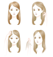 Trouble white hair thinning hair loss of hair [4475379] hair