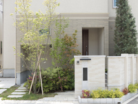 House entrance outside the structure planting Exterior approach new housing construction cases Stock photo [4482817] Housing