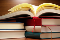 Book book and pages loaded was on the desk has been opened Stock photo [4485562] Book