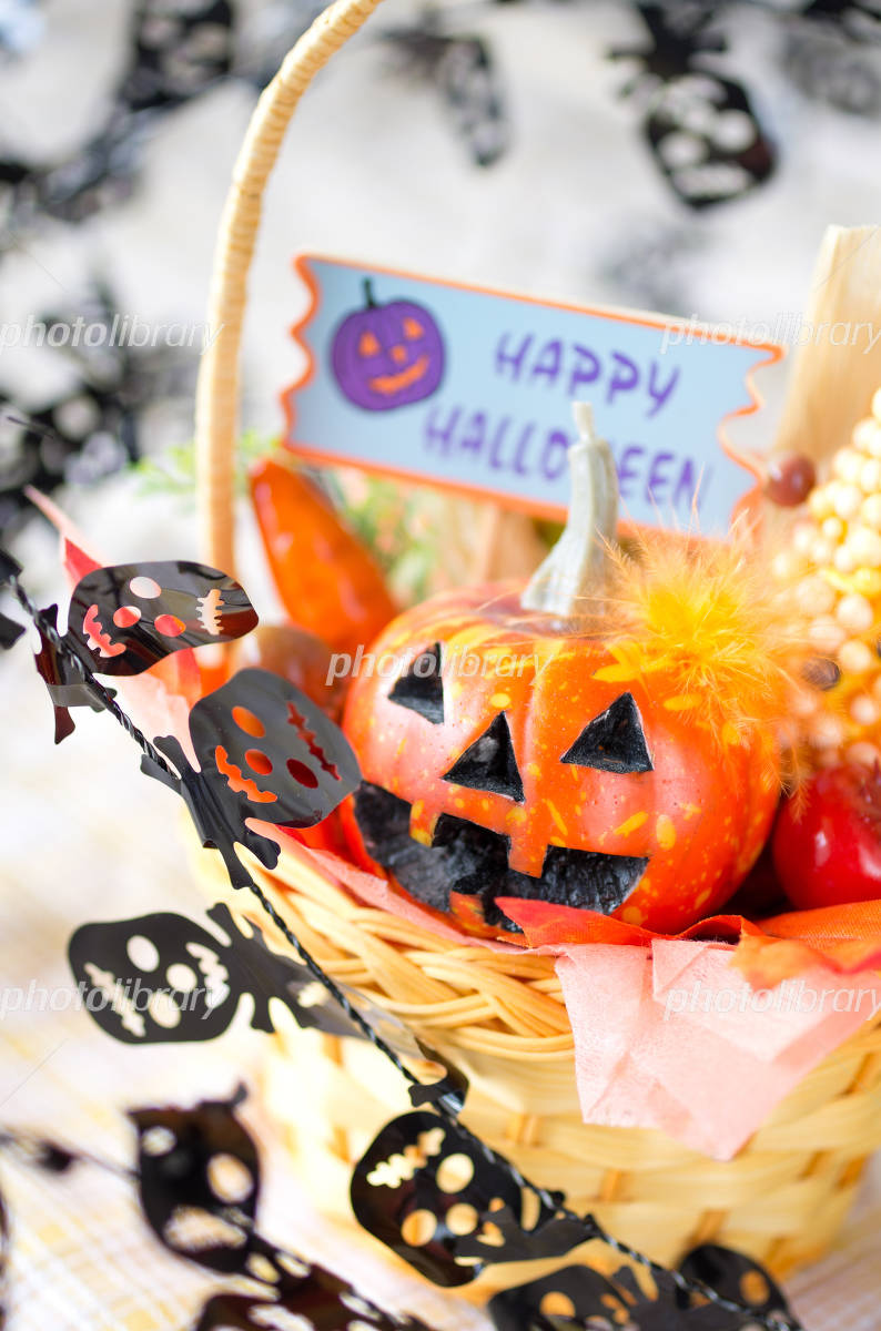 Halloween arrangement of pumpkin Photo
