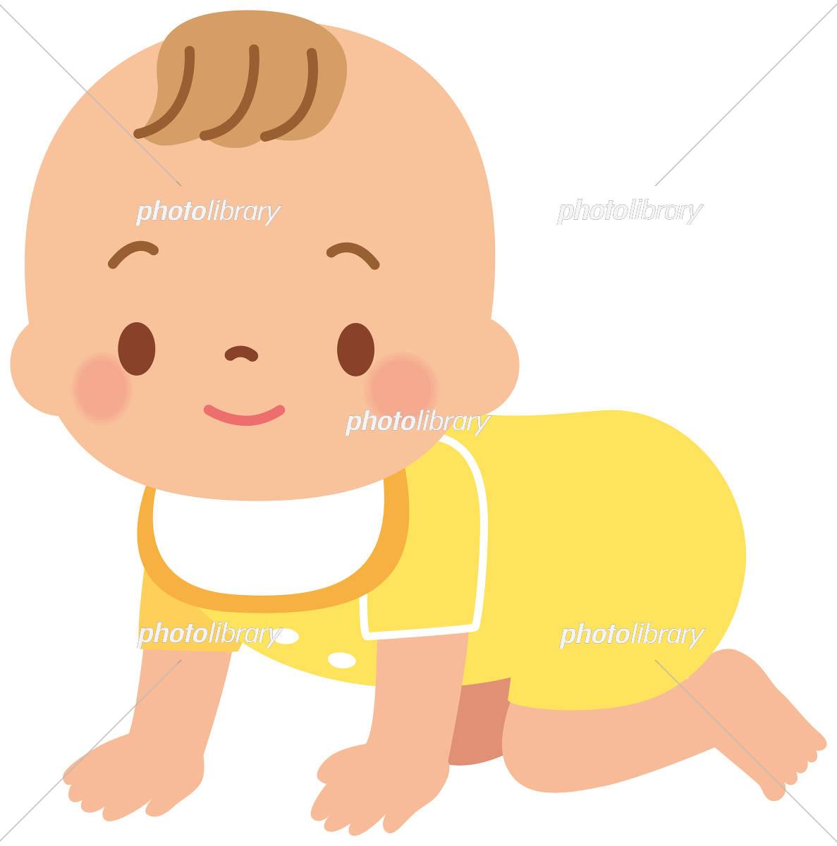 ハイハイする赤ちゃん イラスト素材 4566085 フォトライブラリー