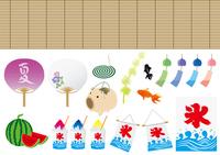 Summer material illustrations set [4566275] summer