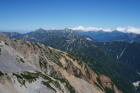 Tateyama mountain range seen from Yakushi-dake summit Stock photo [4624242] Northern