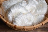 White silk basket filled skein Stock photo [4630774] Silk