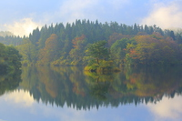 Ogata pond of Akita Prefecture, autumn Stock photo [4696310] Akita