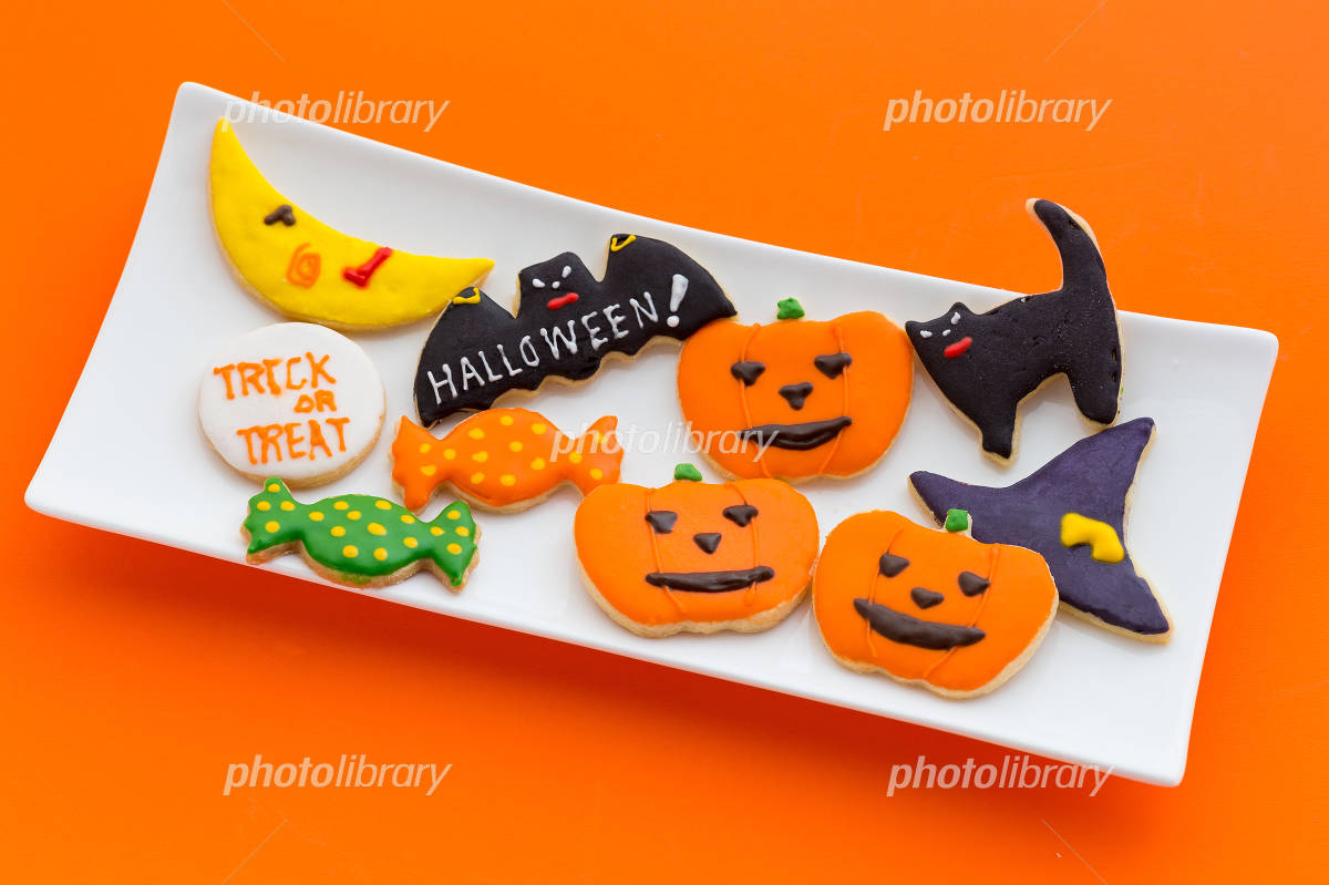 Halloween of icing cookies Photo