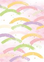 Japanese-style brush wave [4762116] Japanese