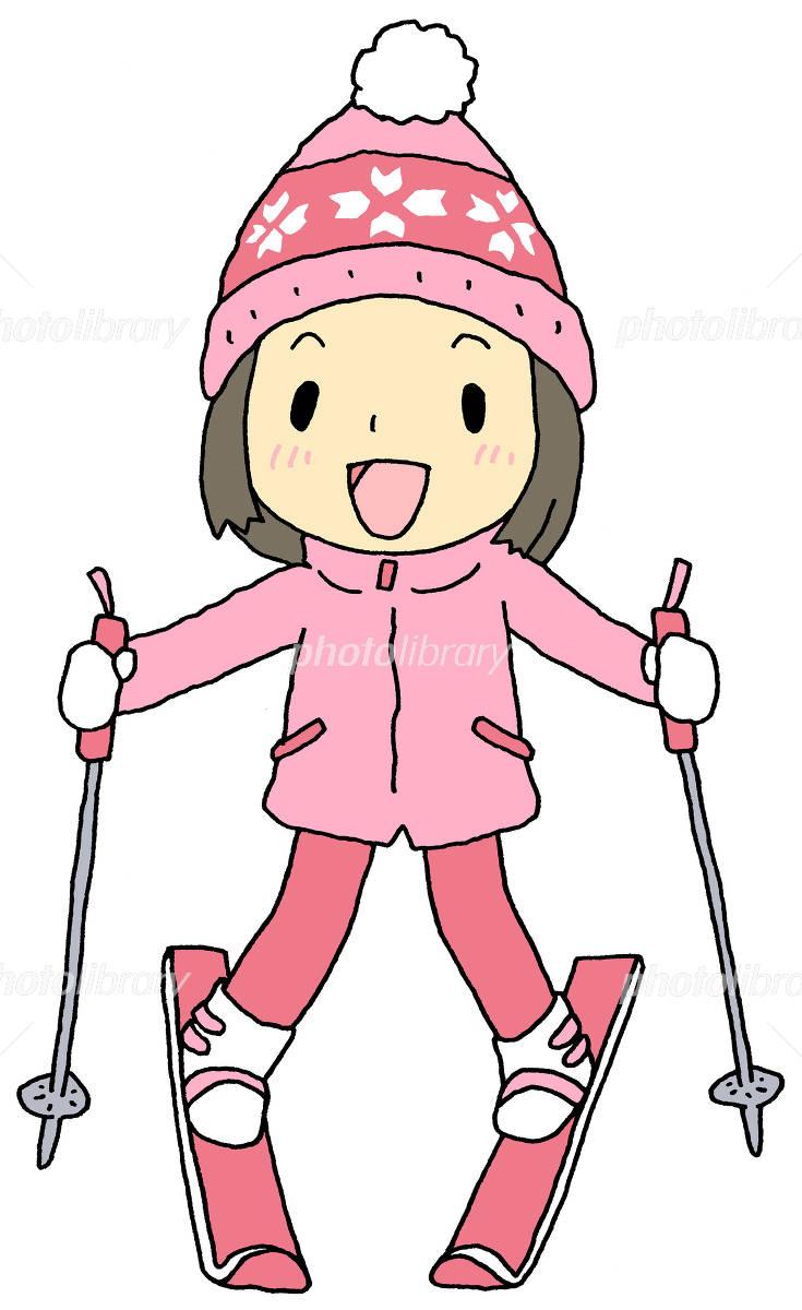 スキー 女の子 イラスト素材 4842075 フォトライブラリー Photolibrary