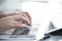 The hands of women to enter the keyboard Stock photo [4836776] Female