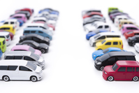 Lot lined colorful minicar Stock photo [4836755] Minicar