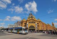 Melbourne Flinders Street Station and tram Stock photo [4842055] Melbourne