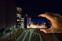 Shoot the urban night scene in the smartphone Stock photo [4843984] smartphone