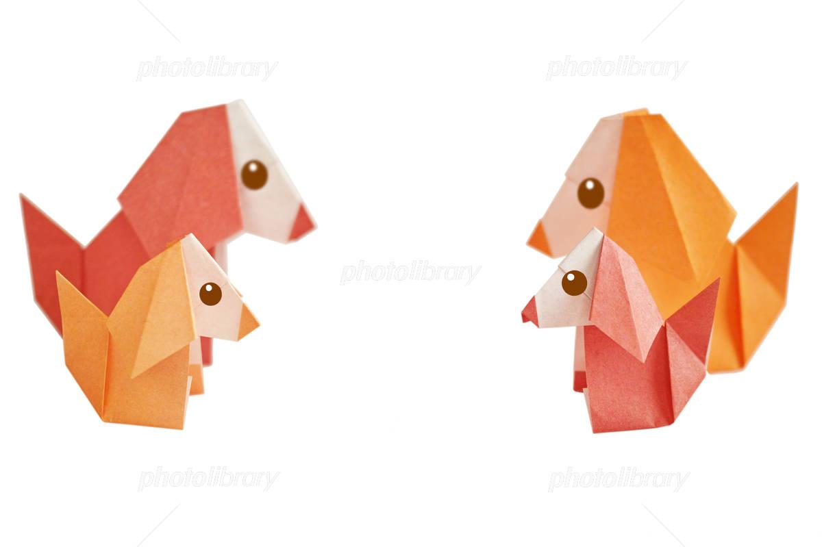 折り紙の犬の家族 イラスト素材 4949934 フォトライブラリー