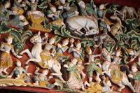 ミャンマーのシュエジゴン・パゴダのレリーフ