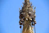 ミャンマーのカックー遺跡の仏塔の飾り
