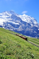 Jungfrau Railway train climbing Stock photo [4952694] Kleine