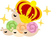 Illustration of a cute snail with a mysterious shell [5045787] An