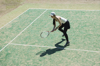A woman playing tennis Stock photo [5049360] tennis